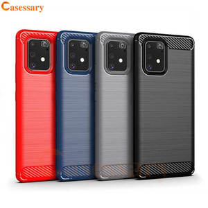 Углеродное волокно Матовых текстуры Дело телефона для Samsung A01 A21 A51 A71 A81 A91 Galaxy S10 Lite Примечания 10 Lite S20 Ультра