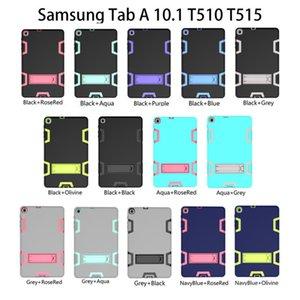 Pour Samsung T510 T720 Etui 3 En 1 Antichoc Anti-Drop Combo Tablet PC Etui Samsung T720 T515 Couverture T377 T385 / T380 T387 T820 P580 T590