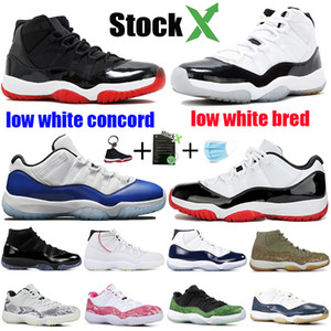 Nike Air Jordan Retro 11 Mens 11s Scarpe da Basket Nuovo Concord 45 Platinum Tint Space Jam Gym Red Win Come 96 XI Designer Sneakers Uomo Scarpe sportive