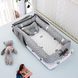 휴대용 신생아 수면 둥지 침대 침대 유아 소프트 코튼 통기성 안락 H55B
