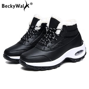 New Arrival Ankle Boots Women Snow Boots Warm Plush Inside Ladies Booties Lace-Up Waterproof Sneakers Shoes Woman Winter WSH3494