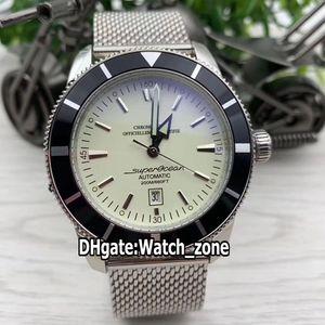 New Superocean Heritage II AB201012.G827.154A AB201012 42mm cadran argent Montre automatique Mens bracelet en acier inoxydable Montres Watch_Zone