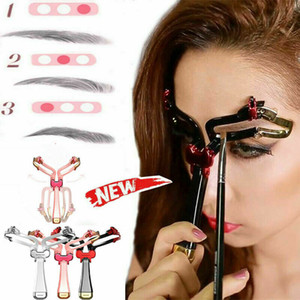 Sobrancelha Shaping Balance Régua Brow Stencil Medida ajustável preguiçoso Maquiagem Tool