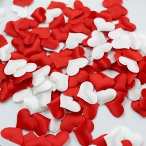 100Pcs Silk Sponge Satin Fabric Cute Heart Petals Wedding Layout Petals DIY Romantic Heart Scrapbook Accessories Wedding Hot