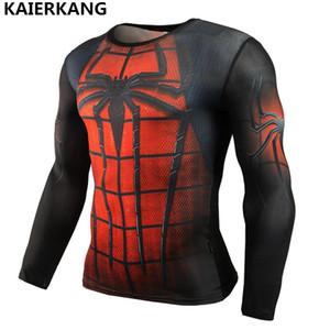 мужчины моды футболка с длинным рукавом Rash Guard Полная Graphic сжатия футболки Многофункциональный Бодибилдинг MMA Топы Рубашки