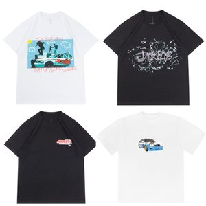 2020ss Ins Hot Travis Scott JackBoys Jack Cactus photo T Skateboard Hommes T-shirts Femmes Rue T-shirt décontracté