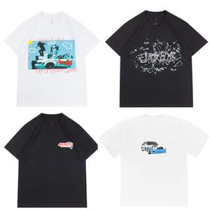 2020ss 인 핫 트래비스 스콧 JackBoys 선인장 잭 사진 티 스케이트 보드 남성 티셔츠 여성 스트리트 캐주얼 티셔츠