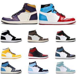 Air Retro Jordan 1 мужская баскетбольная обувь Obsidian UNC Fearless TWIST TURBO GREEN TRAVIS SCOTT PHANTOM TOP 3 женские спортивные кроссовки Szie 5.5-12