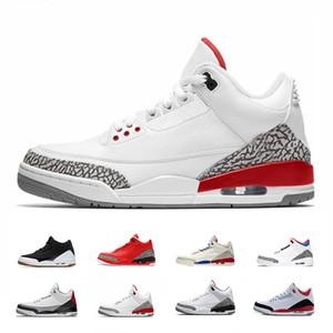 جديد 3s الصرفة الأبيض 3 رجل أحذية كرة السلة تينكر كاترينا JTH الحرة رمي لينيل شيكاغو OG الملكي الأسود الاسمنت مصمم أحذية رياضية حجم 41-47