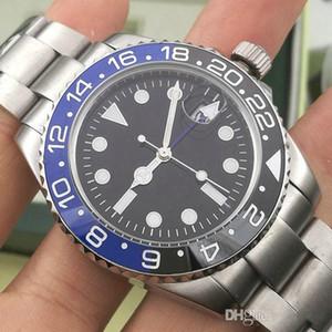 Les nouveaux hommes Wristwatch Basel rouge bleu Montre en acier inoxydable 126600 Mouvement automatique Mens Watch New Arrival Livraison gratuite