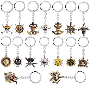 Anime ONE PIECE Keychain Cartoon Figure Key Chains Luffy Zoro Sanji Nami Pendant keyring Chaveiro Jewelry Gift Men Women