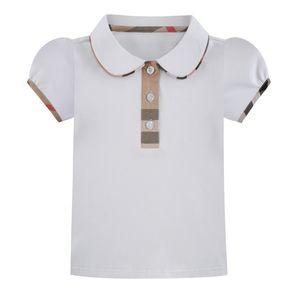 Camisa Xadrez 2020 estilos nova escola estilo crianças T venda quente INS Verão Boneca gola manga curta camiseta de algodão de alta qualidade