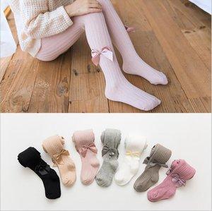Bebé polainas pantimedias niños de algodón Medias Pantalones PP arco de las muchachas medias calcetines de punto Otoño Primavera princesa Pantalones Pantalones de Navidad C6178