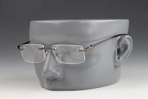 Mode Sport Randlos Sonnenbrillen für Herren in über freien Objektiv-Optik Metallrahmen Vintage Büffel-Damen-Sonnenbrillen Brillen Lunettes