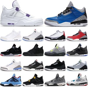 nike air jordan retro 4 4s black cat jumpman 3 3s zapatillas de baloncesto para hombre Court Purple Bred Cactus Green Loyal Blue hombres mujeres zapatillas deportivas deportivas