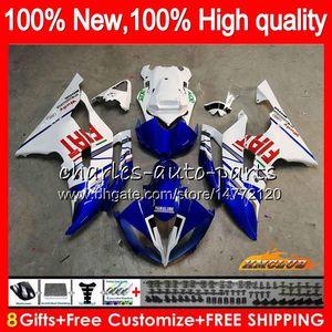 Corpo Per YAMAHA YZF R6 YZF600 fabbrica blu YZFR6 2008 2016 68HC.26 YZF 600 R6 CC 600cc YZF600 YZFR6 08 09 10 11 12 13 14 15 16 carenature