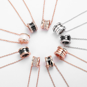2020 New Popular fashion brand Full Diamond spring pendant designer necklace Zero1 luxury jewelry Woman wedding party Lovers gift