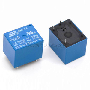 20PCS / lot 5V DC Power Relay SRD-05VDC-SL-C T73-5V SRD-5VDC-SL-C 5Pin PCB Typ Auf Lager