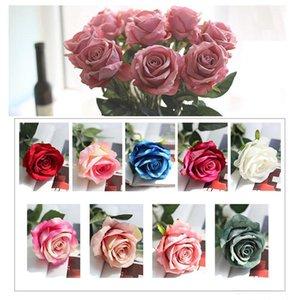 Горячая продажа подарков Романтический Роуз Искусственные цветы DIY красный белый шелк Поддельный цветок для партии Главная Свадебные украшения День Святого Валентина