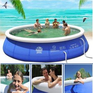 무료로 공기 펌프와 지상 필터 여름 놀이 풀 플라스틱 욕조 위의 야외 풍선 수영장 어린이 성인 가족