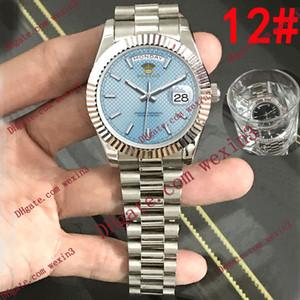Orologi 13 colori uomini Datejust di lusso 2813 Silver41mm Griglia dial Mens Impermeabile Orologi Automatico Giorno Data Orologio da polso
