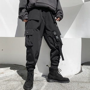 iiDossan 2020 Multi Pockets Cargo Pants Men Casual Joggers Men Harajuku Streetwear Trousers Hip Hop Pants Techwear Hot Sale T200706