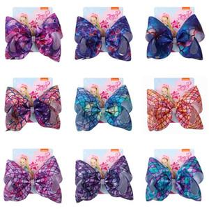 8inch 2019 sirène jojo Siwa arcs cheveux arcs bébé concepteur grandes filles Barrettes enfants Barrettes enfants Barrettes Accessoires pour cheveux BY1029