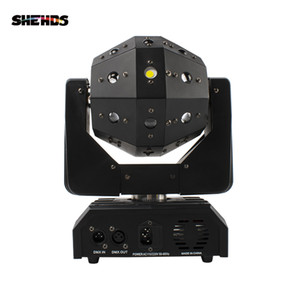 SHEHDS Professional Stage Light 16X3W LED Football Beam&Laser Moving Head Light RGBW & Red Green Laser Flash Strobe Colorful Rock Lighting