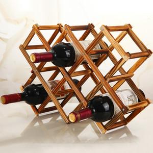 품질 나무 와인 병 홀더 창조적 실용 축소 거실 장식 내각 레드 와인 디스플레이 스토리지 랙