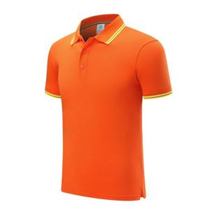 Homens e fina camisa POLO colar de eucalipto fibra de poliéster listrado clássico das mulheres laranja manga curta T-shirt SD-2chongfu-