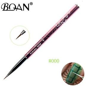 Venta al por mayor 0000 # 000 # 00 # 0 # 1pcs Venta Pure Sable Brush Nail Art Liner Brush Brush Brush 100% Kolinsky 4/5/7 / 10mm
