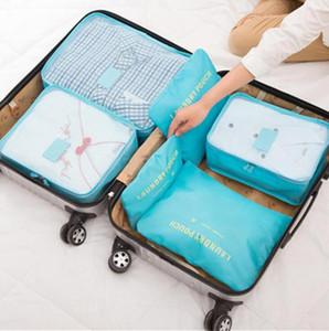 Travel Organizer Bag 6pcs set 8 Colors Clothes Pouch Portable Storage Case Luggage Suitcase Bag OOA7469-7