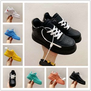 2020 Low Cut One 1 Crianças de couro Tampão Sombra Skate Sneakers Original 1 Rubber Built_in Zoom Ad crianças de baixo Calçados casuais