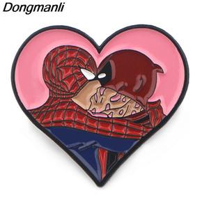 P3974 gros 20pcs / lot Deadpool émail Pins drôles métalliques pour femmes Brooches Mode épinglette Sacs à dos Cadeaux Badge