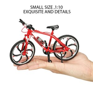 Uno y diez dedo de la aleación miniatura ornamento de los artes infantiles Despacho regalo Racing Diecast chicos ciclistas modelo de moto Sala de juguete para niños