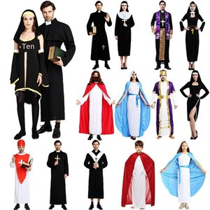 Halloween Jesus male missionary nv fu zhuang nv fu zhuang Cross women's clothing priest costume Maria priest nun costume cross