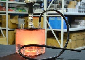 LED Кальян Ресайклер нефтяных вышек стекла Бонг водопроводная труба Лучший Бонги воды Бонг акриловый кальян Бесплатная доставка
