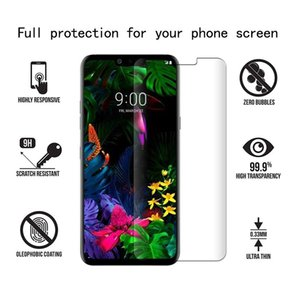 إلى LG Stylo 5 K40 G8 ThinQ One Plus 7 Coolpad Legacy Anti Fingerprint Clear منتظم واقي شاشة زجاج مقسى