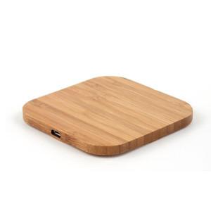 패드 아이폰 (11) 프로 X 8 플러스 샤오 미 (9) 스마트 폰 충전기 삼성 S9 S8 S10 플러스 충전 제나라 무선 충전기 슬림 나무