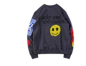 2020 Sommer-Frühling-MEN Graffiti Designer Ghosts Kinder Siehe Hoodies Teenager Bekleidung Herren Lächeln Printed O-Ansatz Pullover