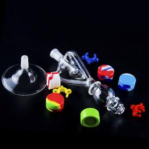 14 milímetros Vortex Bong Recycler Dab Rig vidro inebriante tubulação de água Nectar Oil Rigs Com Gr2 Titanium Quartz Dica base de copo bubbler ciclone