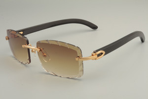 البيع المباشر من النظارات الشمسية الجديدة الطبيعية الأسود قرن، 8100915 شخصية النظارات الشمسية المخصصة، محفورة العدسات عدسة اللون والحجم: 56-18-140mm