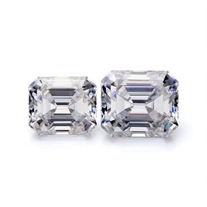 certification DEF Blanc RRB taille émeraude taille 5CT 13x7mm bijoux en diamants moissanite synthétique lâche pour fille