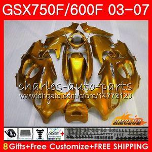 Body kit per SUZUKI KATANA GSXF600 lucido dorato GSXF750 03 04 05 06 07 3HC.57 GSX750F GSX600F GSXF 750 600 2003 2004 2005 2006 2007 Carenatura
