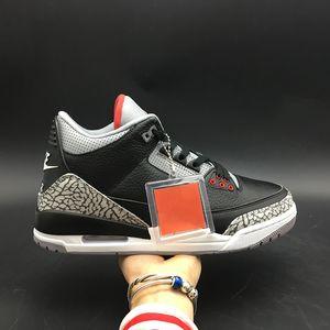 Воздух 3 OG черный цемент 854262-001 3S III Kicks женщины мужчины баскетбол спортивная обувь кроссовки хорошее качество тренеры с оригинальной коробке