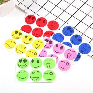 Creative Emoji Anti Mosquito Sticker Autocollants Paster sourire Styles visage Mosquitos Tueur Patch Kid Fit bébé adulte ménage 6pcs / Set 0 11hj E19