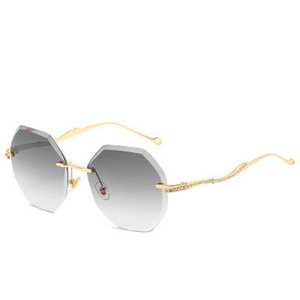 Frameless sunglasse Lip Shaped Frameless óculos de sol Tendência Scrap Borda pára-sol Óculos de Sol Praia Casual Sunglasses Multi Color Hot PKsC6
