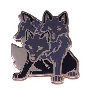 3 맨 위 늑대 사기질 핀 공포 이체 동물성 브로치 크랭키 할로윈 수집