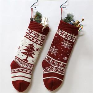 Süßigkeitssack-Strumpf-Weihnachtsbaum-Schneeflocke-Muster-rote Socken-Festival-kleines Geschenk sackt neue Ankunft 9 8mx L1 ein