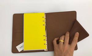مصمم الصين جدول الأعمال العلامة التجارية العلامة التجارية ملاحظة يوميات BOOK غطاء مصنوع من الجلد جلد مع dustbag وبطاقة فاتورة ملاحظة الكتب الساخن بيع النمط خاتم الذهب